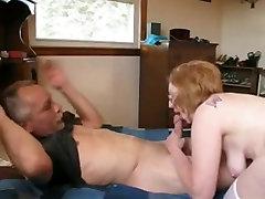Mature woman fucks her husband&039;s friend