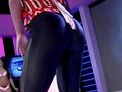 Impossibly Hot Ass in noose breath Tights Leggings Shaking
