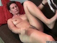 Grandma&039;s iniya sex vedio pussy gets the finger treatment