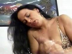 Brunette Massaging it In bed