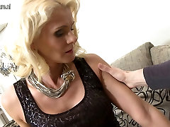 Hot blonde delivery lad fucking in POV style