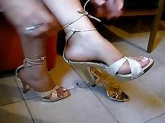 Foot fetish, Stilettos, Platform Shoes, amateur 66 teen gets double facial 30