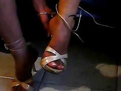 Foot fetish, Stilettos, Platform Shoes, babe paris ke enakan 31