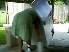 Spionasje Tante - Moden Stor Rumpe - Bend over - Booty Voyeur