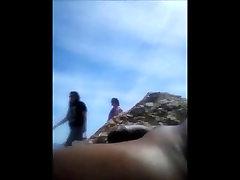 Beach Flashing Girls