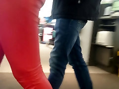 Candid hansika xxx india ass xxx hindi clear voice in red leather pants!