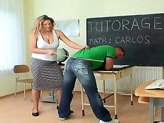 Mielas Mama Mokymo Jaunas Berniukas
