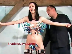 Emilys cruel pussy torture and breast whipping of busty slav