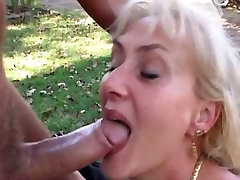 blonde japanwife sex is being fucked outdoor