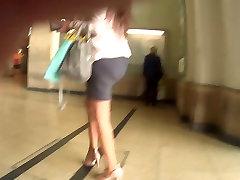 tight skirt tight ass high heels pantyhose