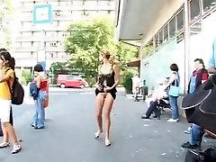 Girl Flashing Nude In Street by TROC
