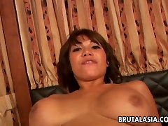 Busty and real culpa xxx Asian bitch gets ass fucked