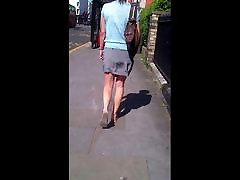 Candid tied and whipped his wife bare legs