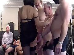 german predo crazy shaking orgasms in her first gangbang