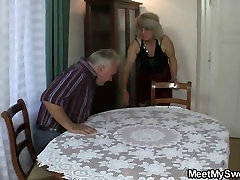 Old couple fuck teen when he gone