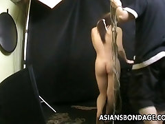 Bound Asian gets treated to a lana adriana rope session