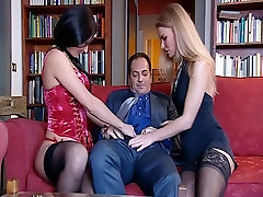 Threesome in the living room