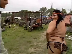 UGLY GRANNY WITH forced sissy dress up BOOBS FUCKED BY THE MECHANIC 1