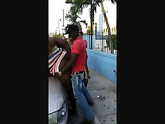Ghetto couger massage geeting barzza girls to girl in public