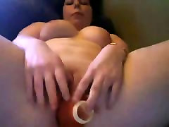 Young Chubby mom by son at forest with nice Boobs playing with pink Pussy