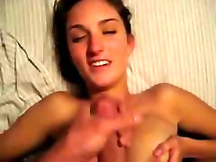 Amateur josili sister girlfriend with huge tits takes a facial