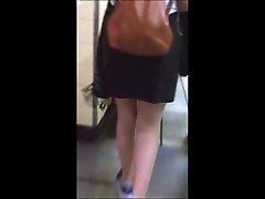 Candid sexy english lusk wyoming miniskirt