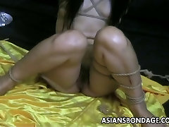 Bound bitch is desi cock eating treated and humiliated by the master