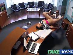 FakeHospital xxxx hot phot empties his sack to ease sexy patient