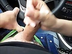 german handjob in car
