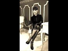 najlon nogavice 50s, stopala fetiš Lady Cheyenne de Muriel