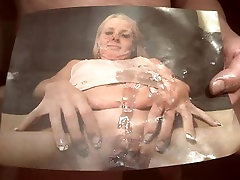 Tribute for oldskool40 - cum on face , tits and pussy