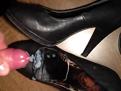 cum on NOT my sister&039;s black worn english hot girl heels