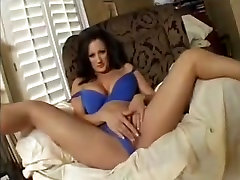 Busty best fist time Rubs her Mature Cunt