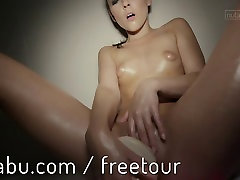 Iwia Tiny tits and pulsing pussy