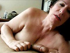 Granny Sucking on His Cock POV