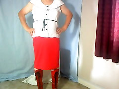 Dee in new red xxx vedio hot hd and suspenders