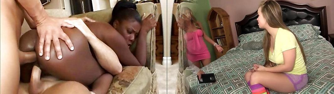 Black Babe Simone West Gets Double Penetration