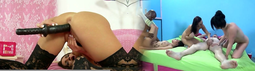 Scorching Giselle Leon in lacy tights jacking with humungous hookup toy