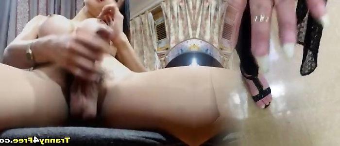 Fantastic Japanese Solo Shemale Porno