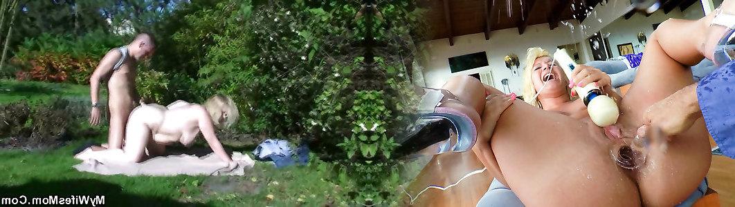 żona dostaje bardzo perwersyjne, gdy znalazł je orać w ogrodzie