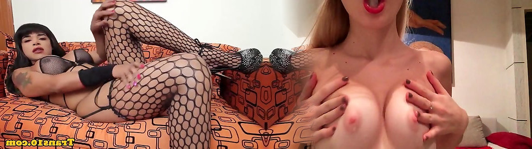 Solo ginger-haired trans honey drains and creams