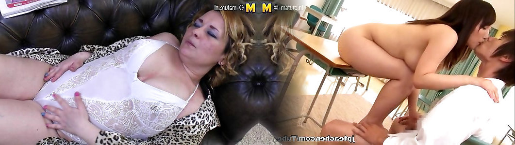 super-niegrzeczny пухлая mama wali konia na słuchanie kanapie