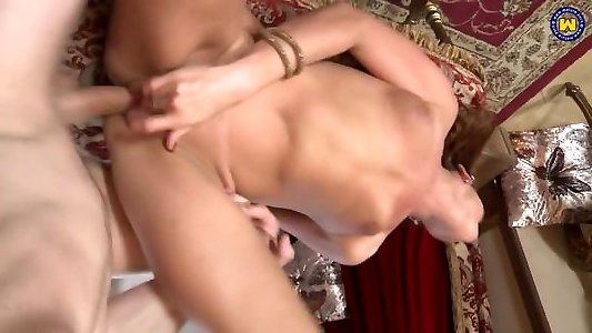 Sizzling taboo fuck-fest with mature mothers and sonnies