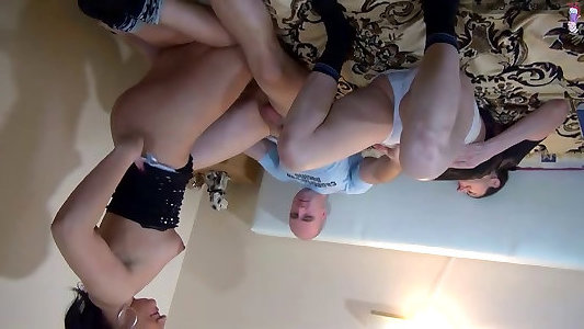 OldNanny Older furry mature and pretty nubile are insatiable