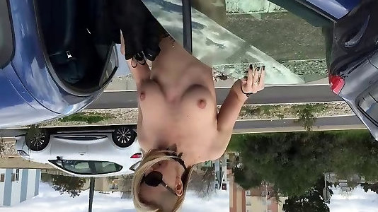 Flashing and bare in a public parking
