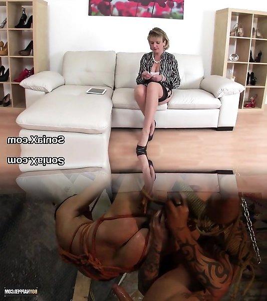 Britische Dame Sonia Handjob