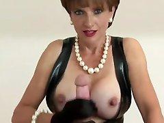 Dominant mature woman handjob