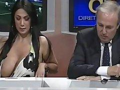 Big Tits Slip on TV BVR