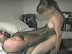 White Bitch Satisfies Fat Black
