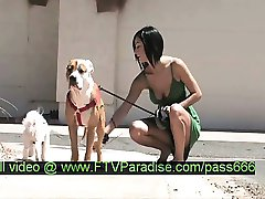 Shanel tender splendid brunette babe walking her dogs